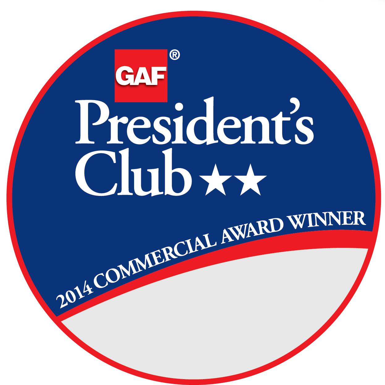 Antex Roofing Co. Receives GAF's Prestigious 2014 President's Club Award