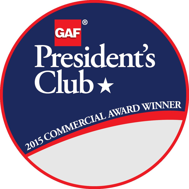 Pyramid Roofing Company Receives GAF's Prestigious 2015 President's Club Award