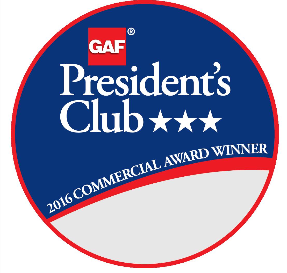 Roofco Receives GAF's Prestigious 2017 President's Club Award