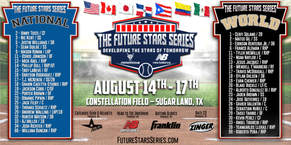 National and World Team Rosters Announced For Highly Anticipated New Balance Future Stars Series International Week In August