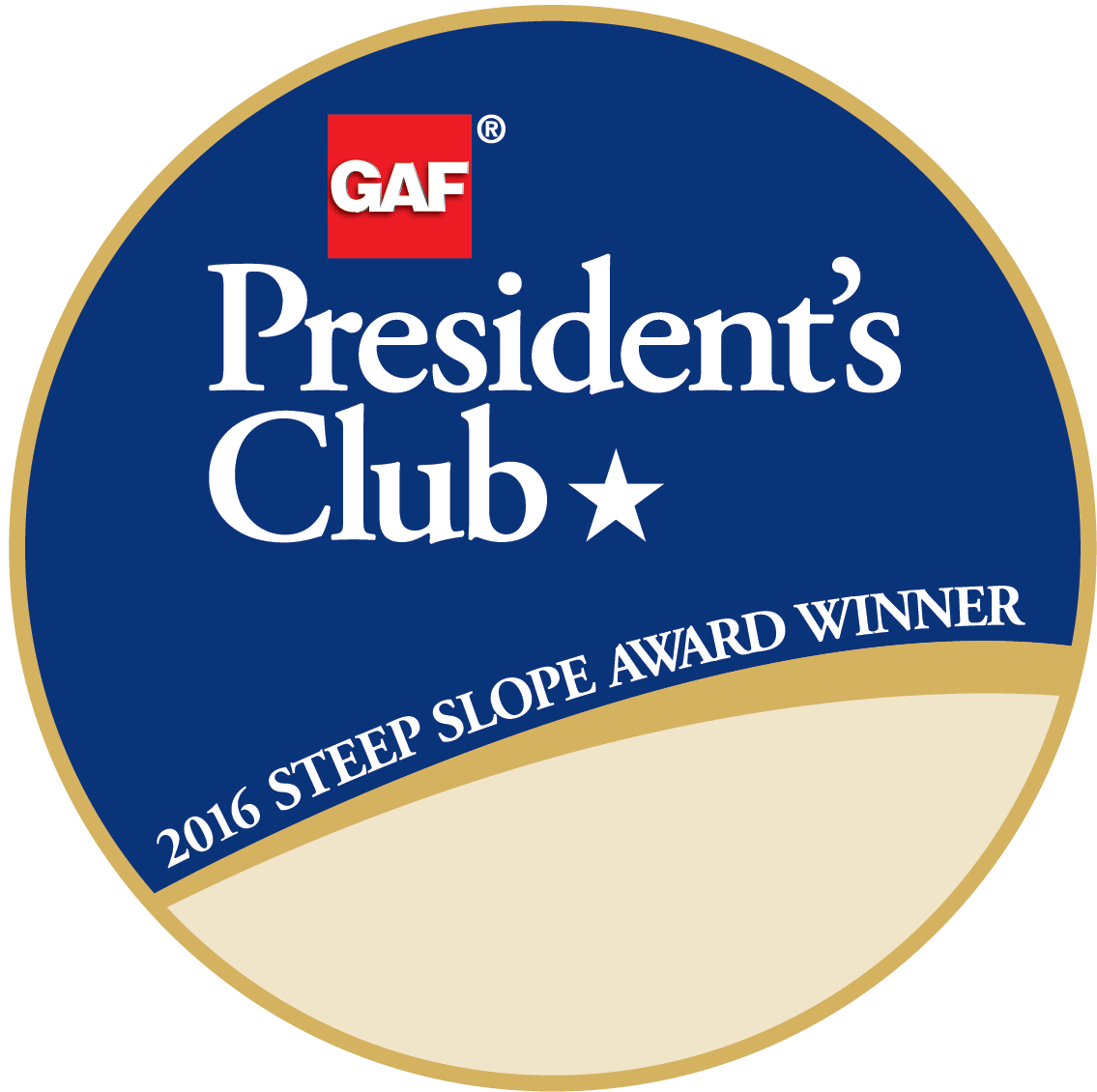Excel Roofing & Construction Receives GAF's Prestigious 2017 President's Club Award