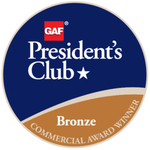 Peters Roofing Receives GAF's Prestigious 2018 President's Club Award