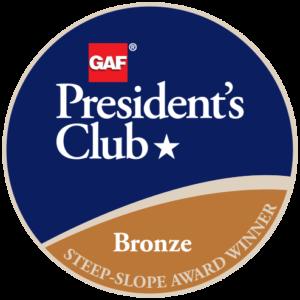Bone Dry Roofing Company Receives GAF's Prestigious 2018 President's Club Award
