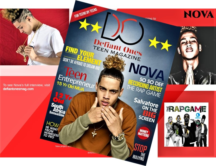 "Nova, Aka ""The Young God,"" Rap Game Season 3 Winner Was Recently Featured On The Cover & Interviewed In Defiant Ones Teen Magazine"