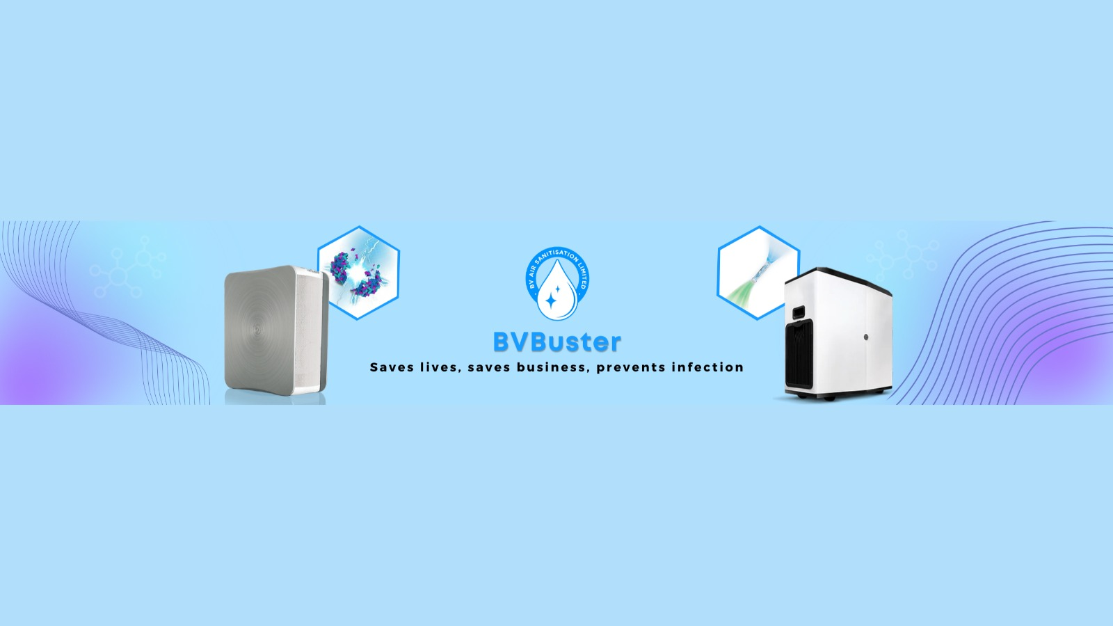 BV Buster Introducing Game-Changing Air Disinfection and Sanitization Systems to Save Lives, Save Businesses and Prevent Infection.